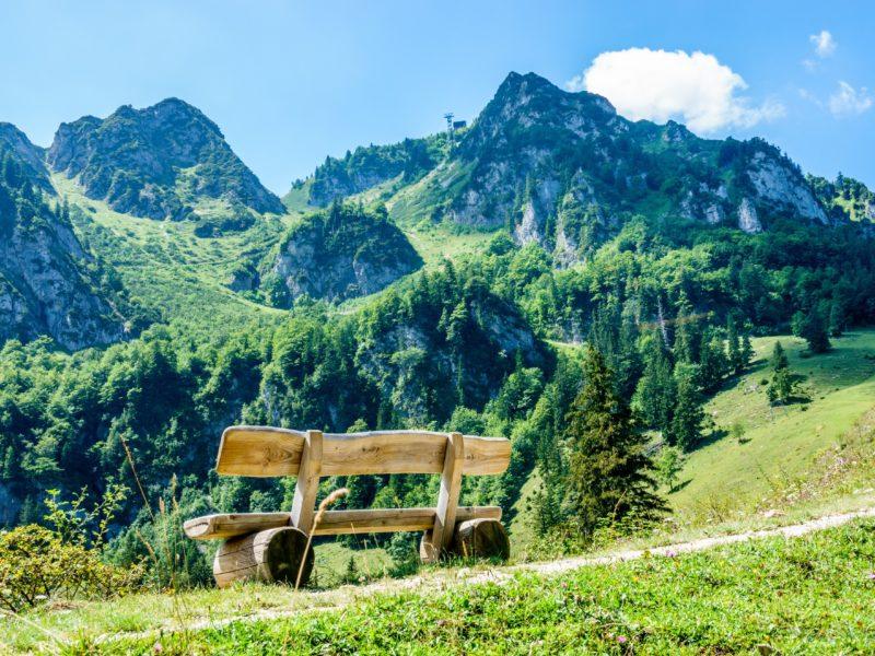 Aussicht Chiemgauer Alpen Priener Hütte